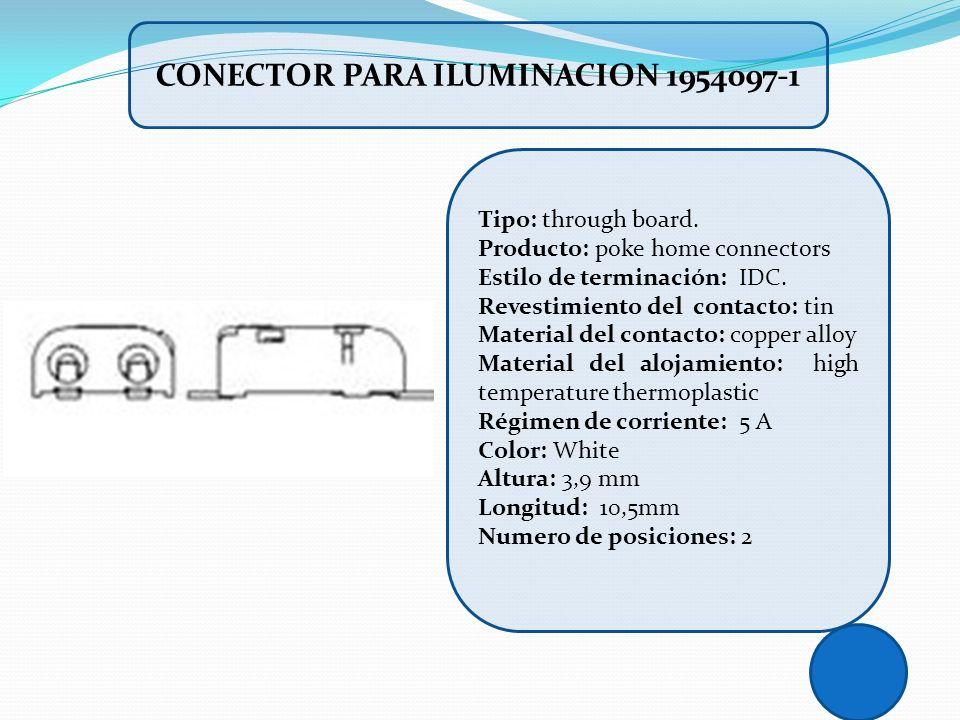 CONECTOR PARA ILUMINACION 1954097-1