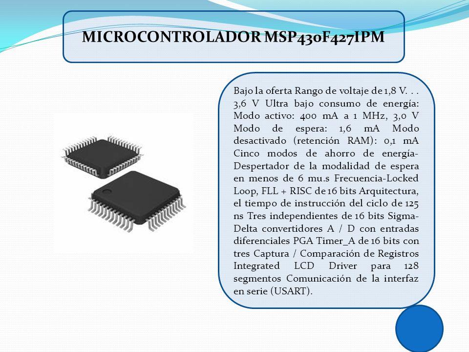 MICROCONTROLADOR MSP430F427IPM