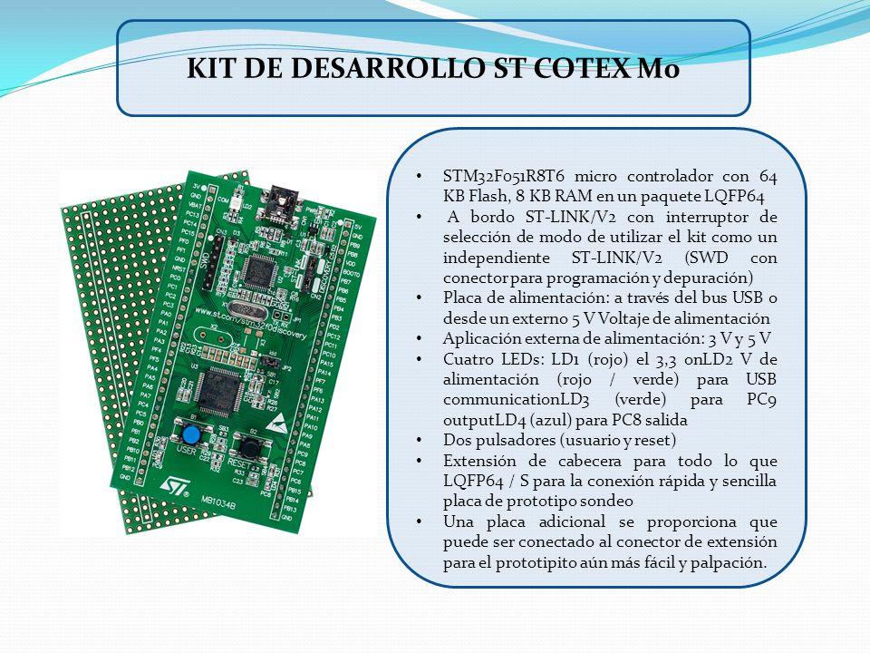 Kit de desarrollo st cotex m0