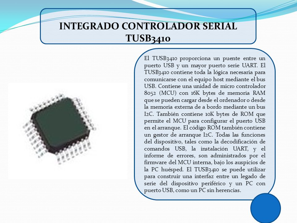 INTEGRADO CONTROLADOR SERIAL TUSB3410