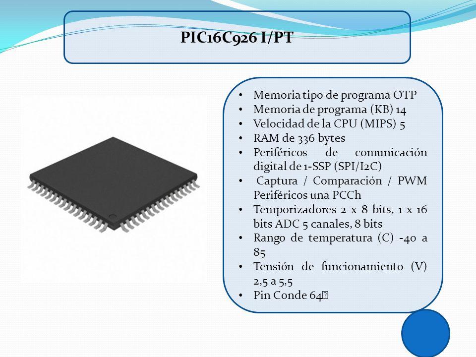 PIC16C926 I/PT Memoria tipo de programa OTP