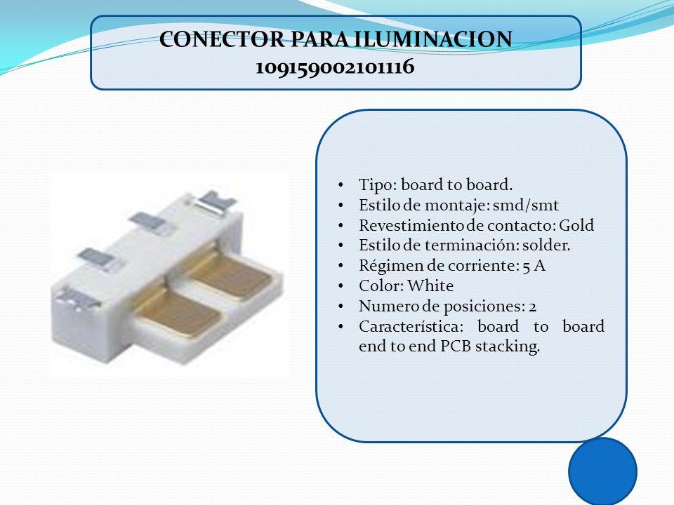 CONECTOR PARA ILUMINACION 109159002101116