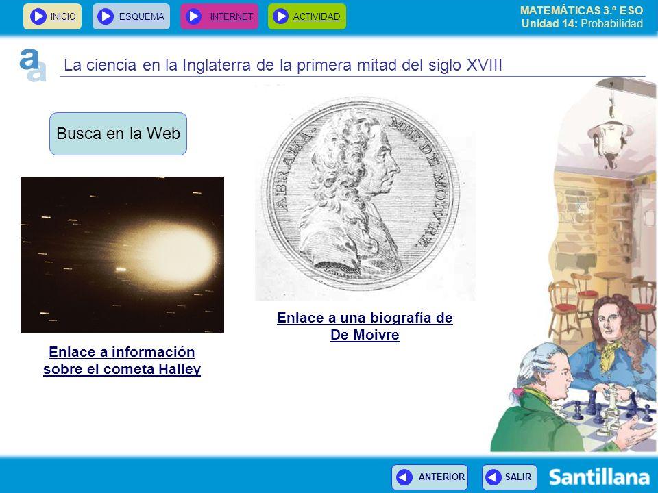 Enlace a una biografía de Enlace a información sobre el cometa Halley