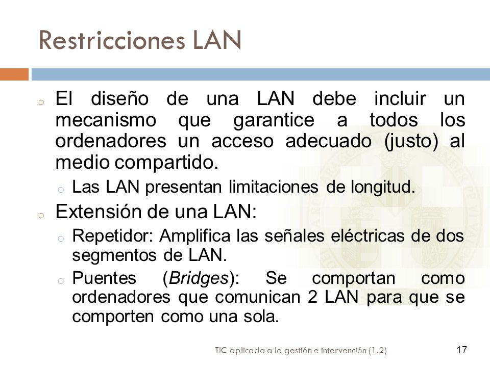 Restricciones LAN