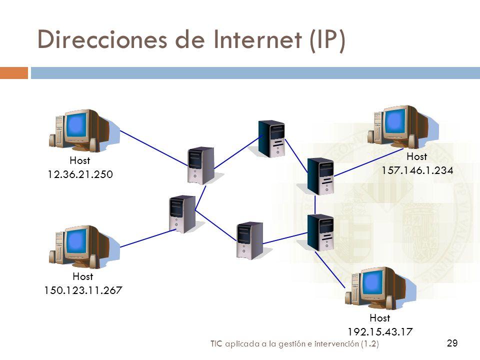Direcciones de Internet (IP)
