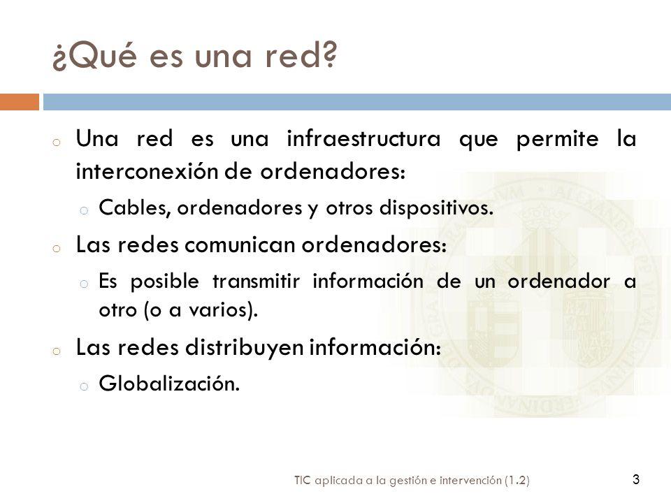 ¿Qué es una red Una red es una infraestructura que permite la interconexión de ordenadores: Cables, ordenadores y otros dispositivos.