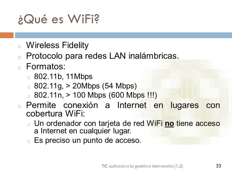 ¿Qué es WiFi Wireless Fidelity Protocolo para redes LAN inalámbricas.