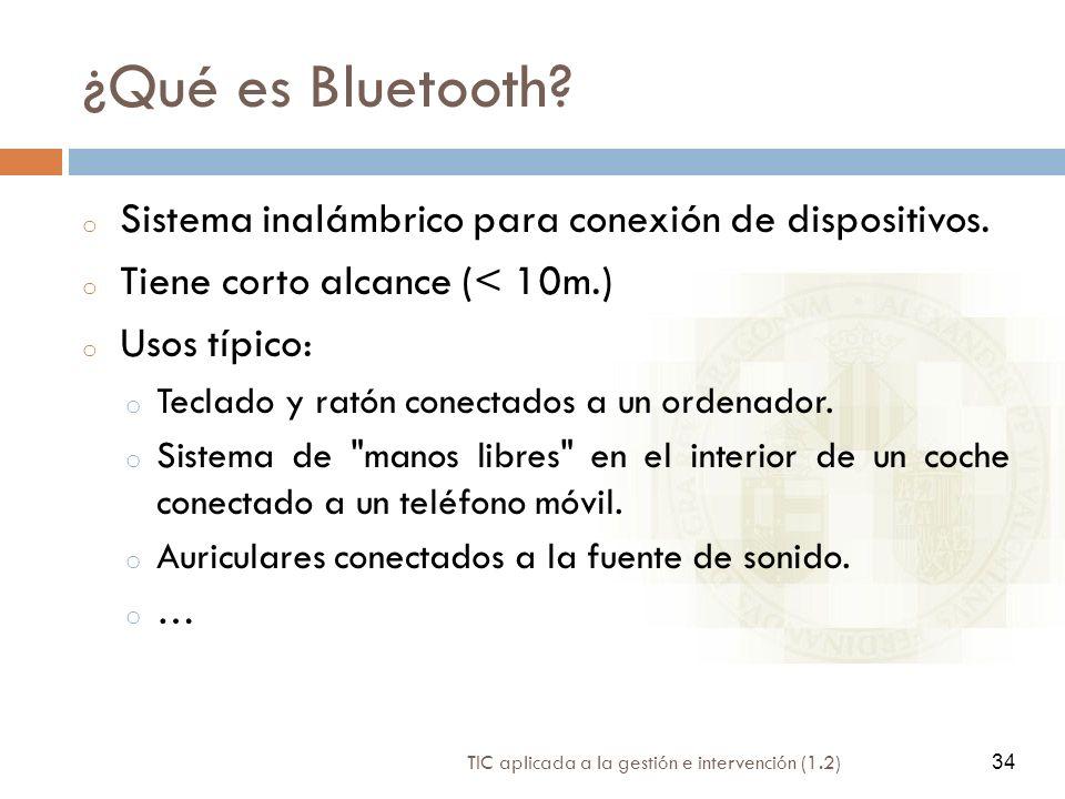 ¿Qué es Bluetooth Sistema inalámbrico para conexión de dispositivos.