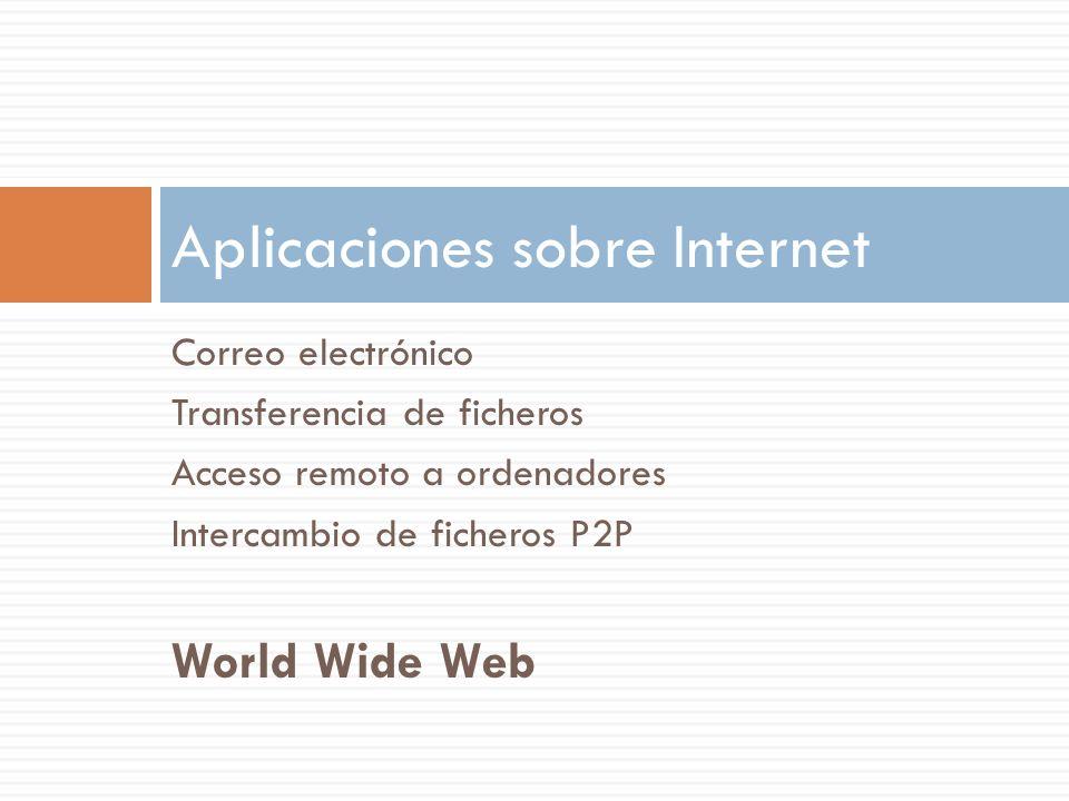 Aplicaciones sobre Internet