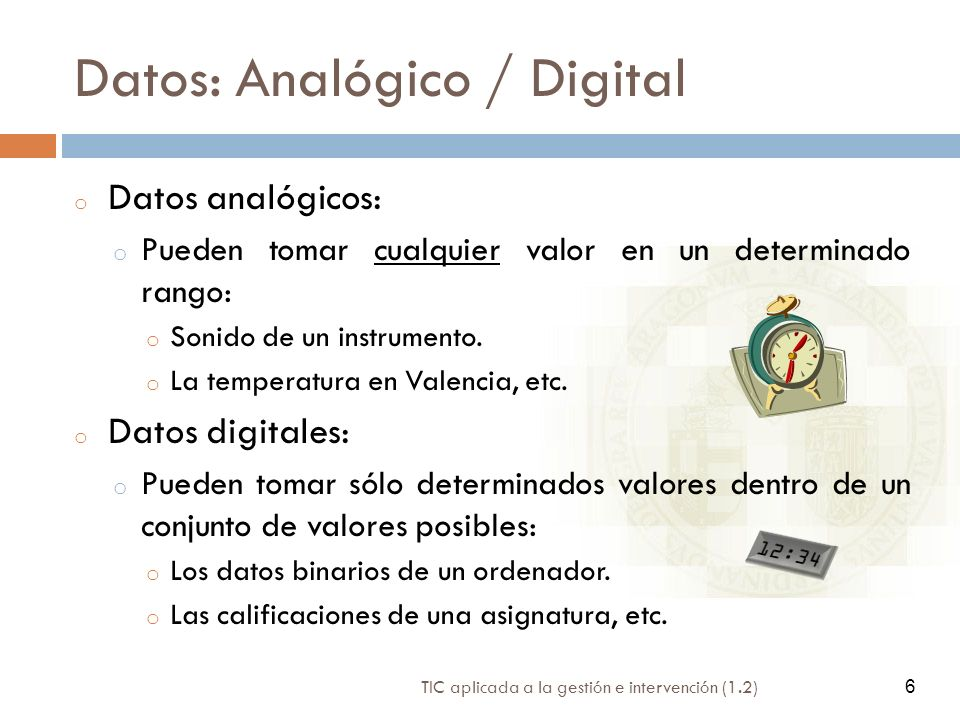 Datos: Analógico / Digital