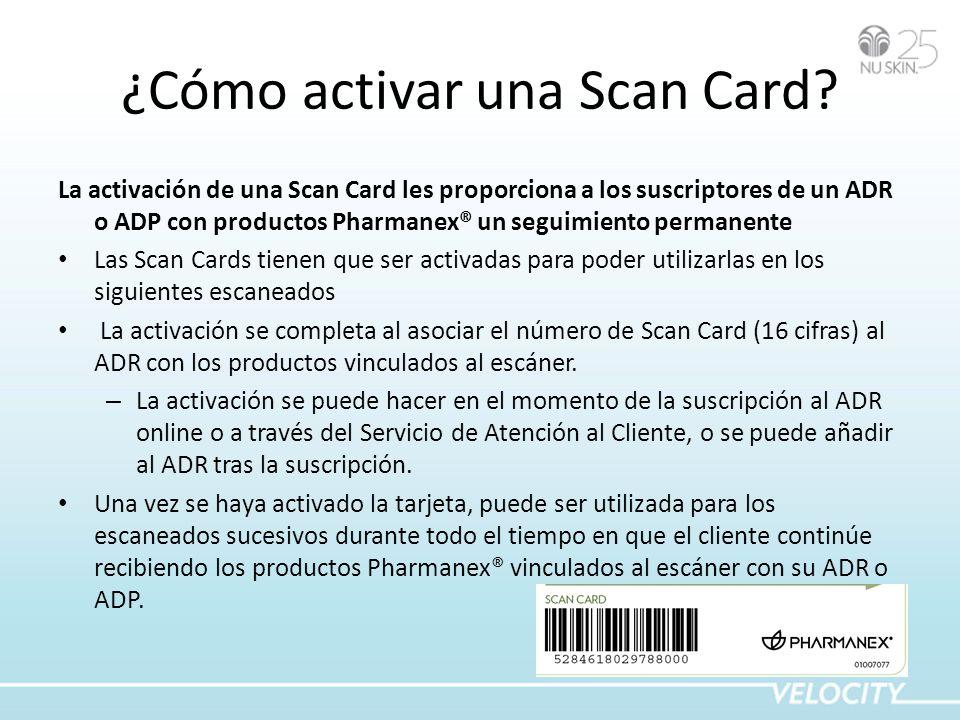 ¿Cómo activar una Scan Card