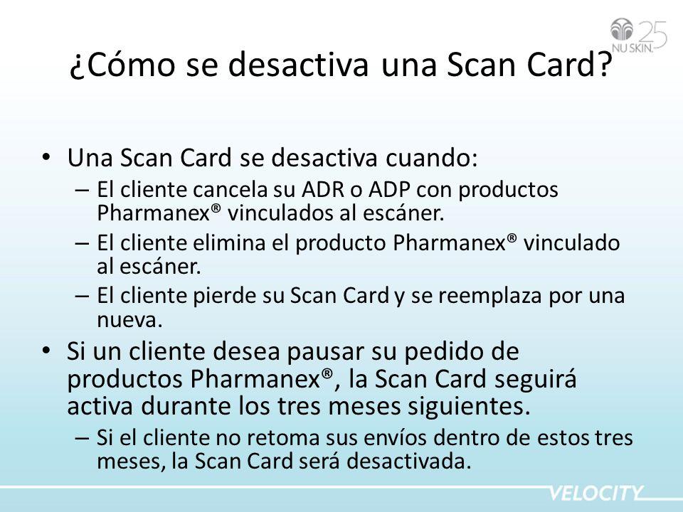 ¿Cómo se desactiva una Scan Card