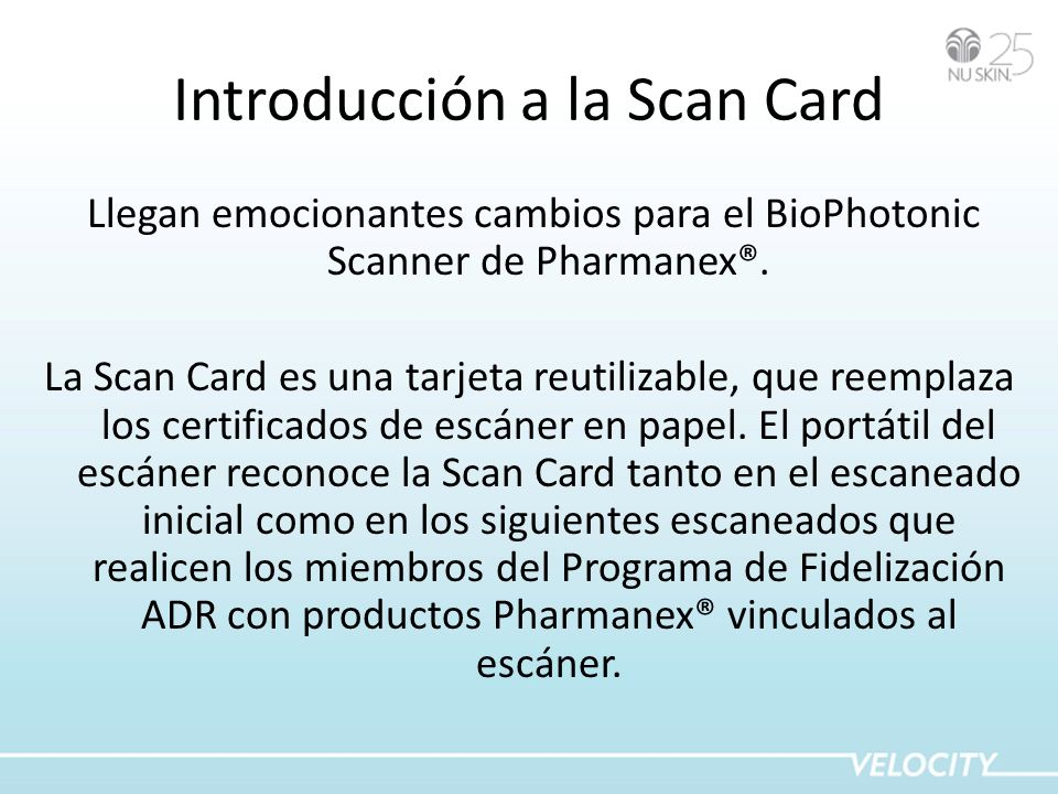 Introducción a la Scan Card