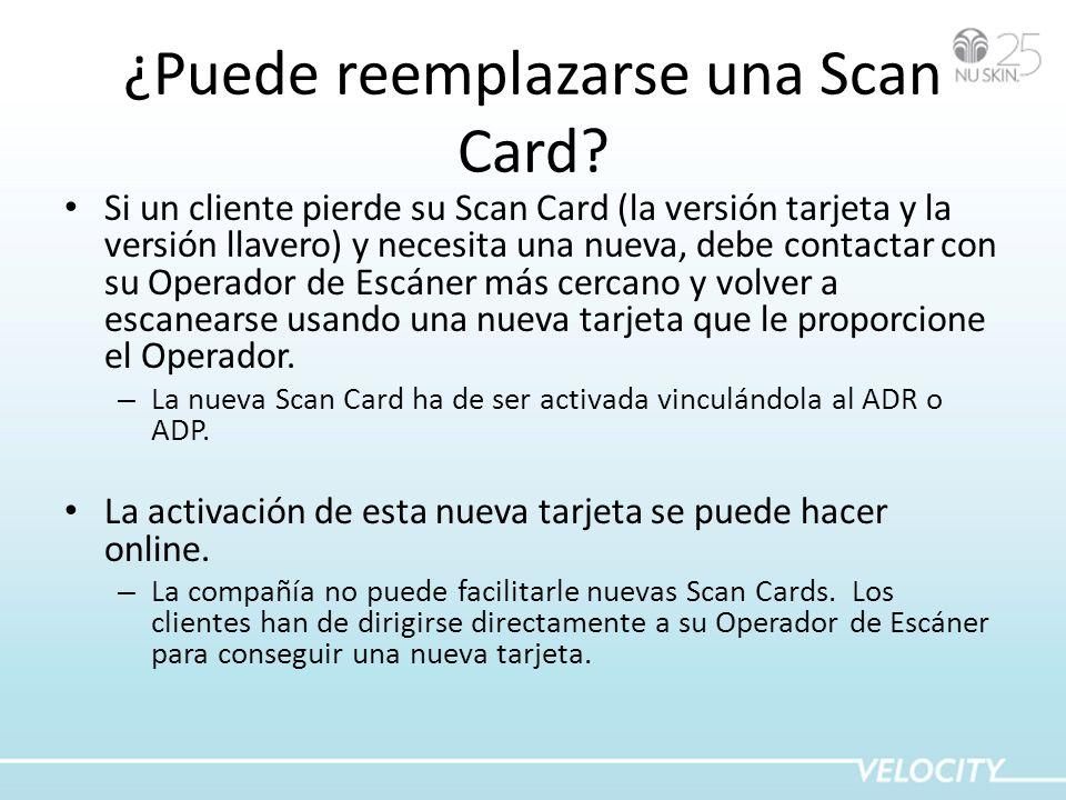 ¿Puede reemplazarse una Scan Card