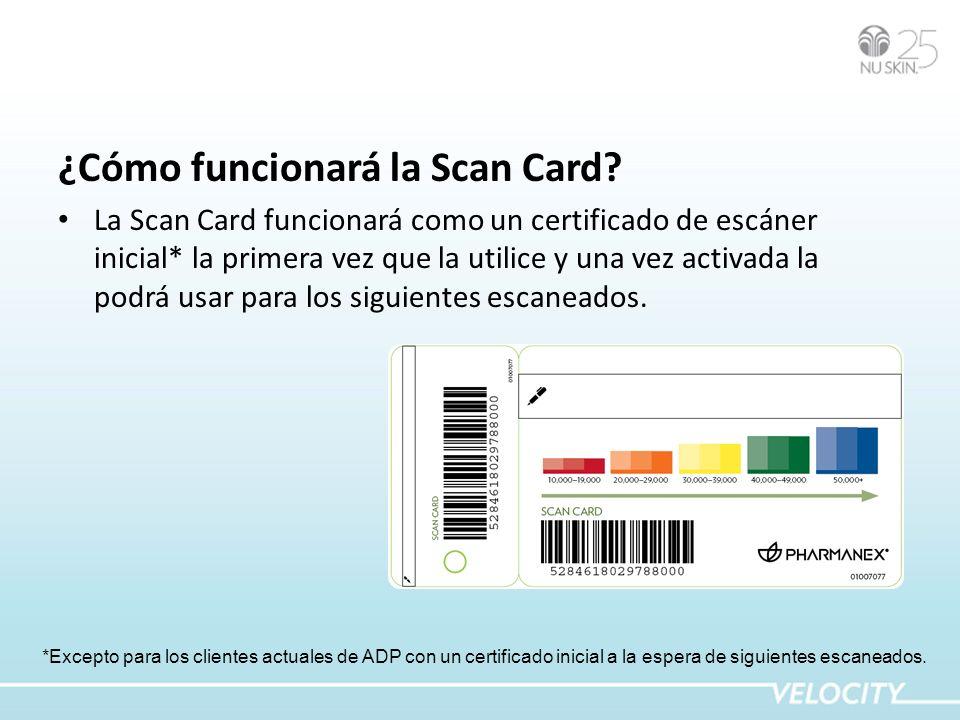 ¿Cómo funcionará la Scan Card