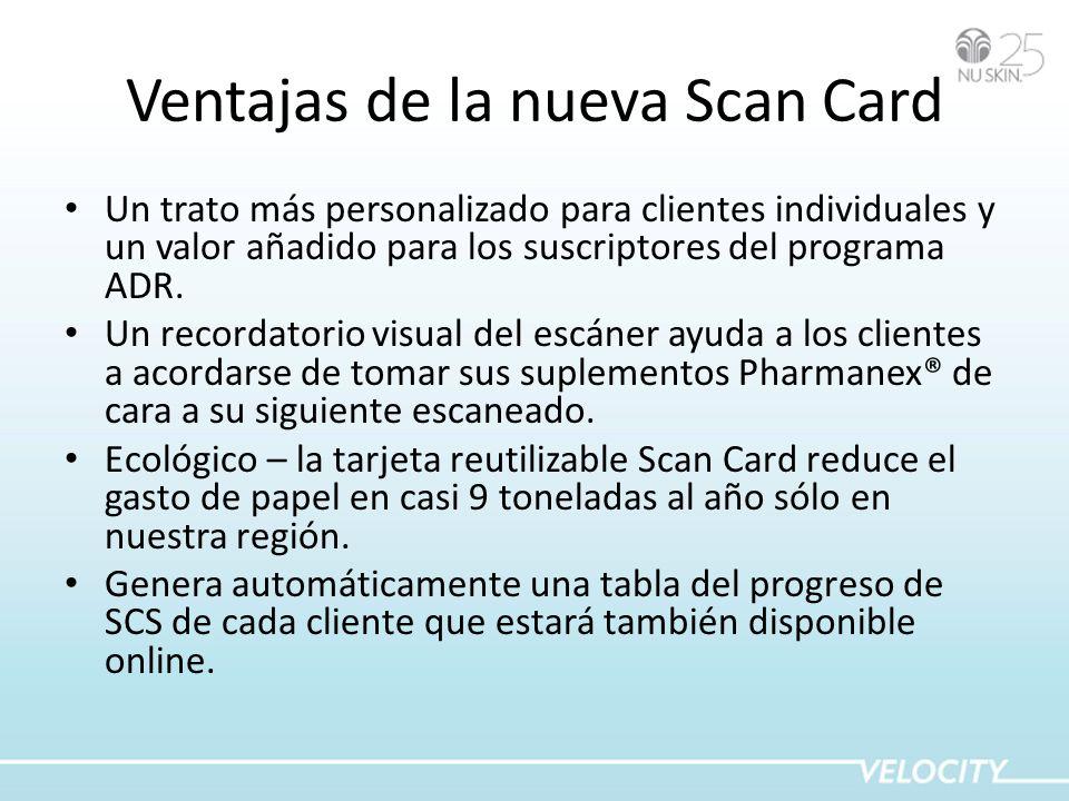 Ventajas de la nueva Scan Card