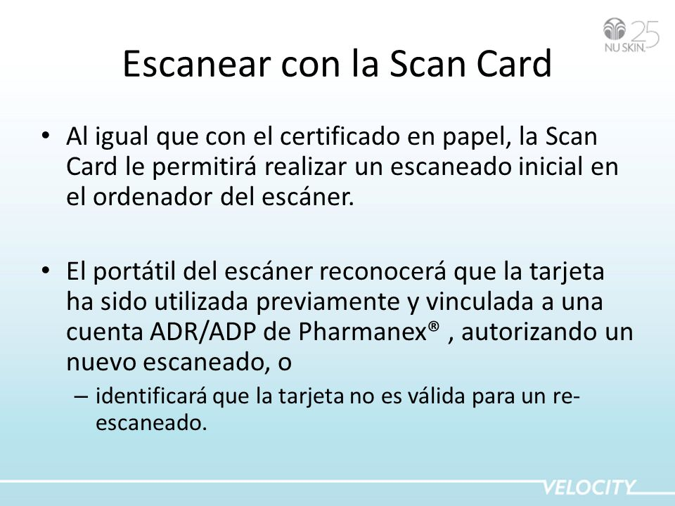 Escanear con la Scan Card