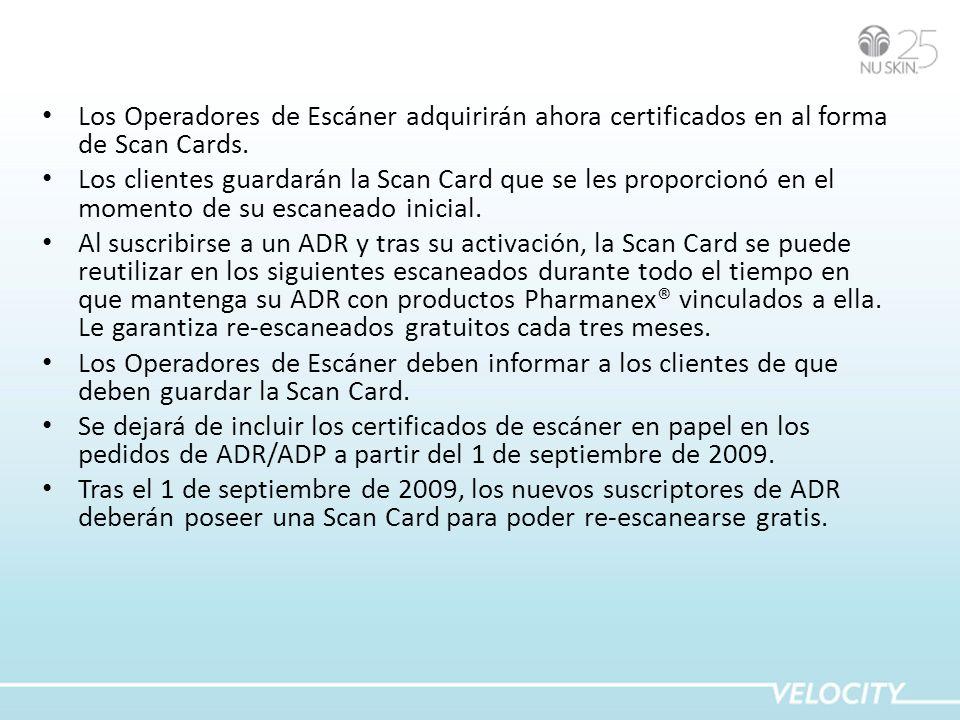 Los Operadores de Escáner adquirirán ahora certificados en al forma de Scan Cards.