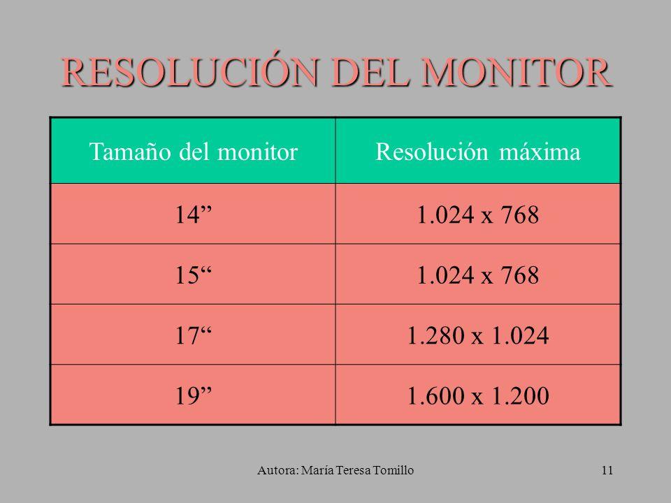 RESOLUCIÓN DEL MONITOR
