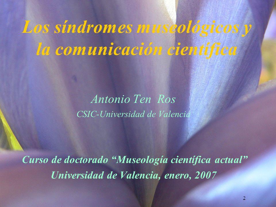 Los síndromes museológicos y la comunicación científica