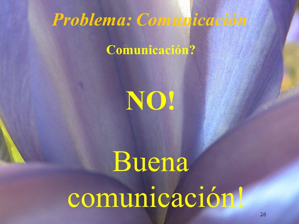 Problema: Comunicación