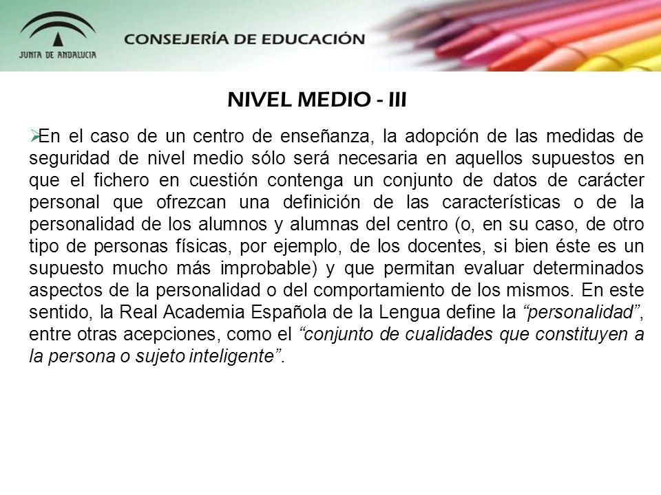 NIVEL MEDIO - III