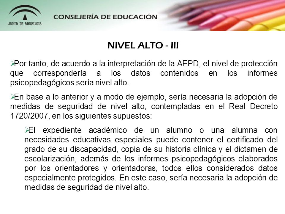 NIVEL ALTO - III