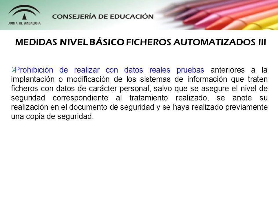 MEDIDAS NIVEL BÁSICO FICHEROS AUTOMATIZADOS III
