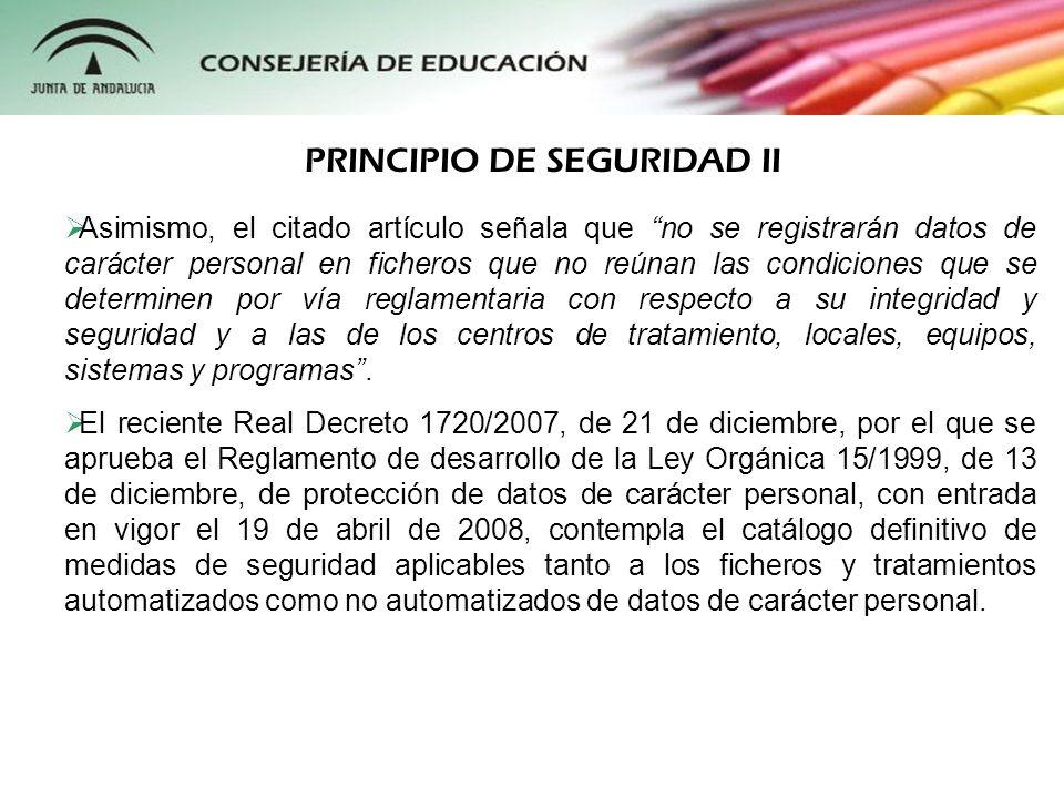 PRINCIPIO DE SEGURIDAD II