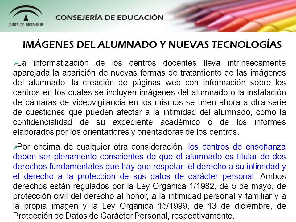 IMÁGENES DEL ALUMNADO Y NUEVAS TECNOLOGÍAS