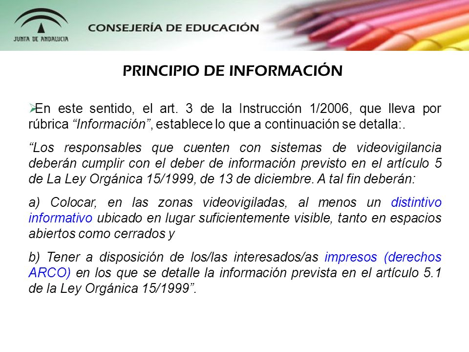 PRINCIPIO DE INFORMACIÓN