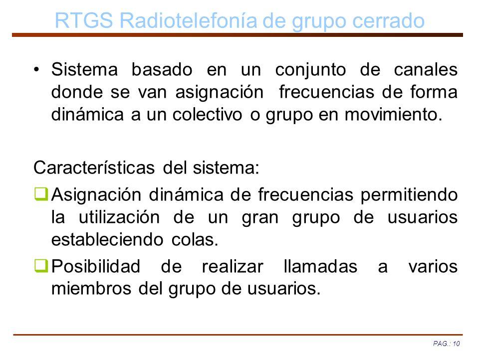 RTGS Radiotelefonía de grupo cerrado