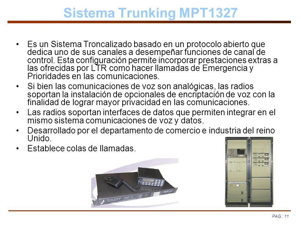 Sistema Trunking MPT1327