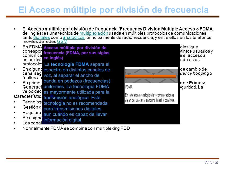 El Acceso múltiple por división de frecuencia