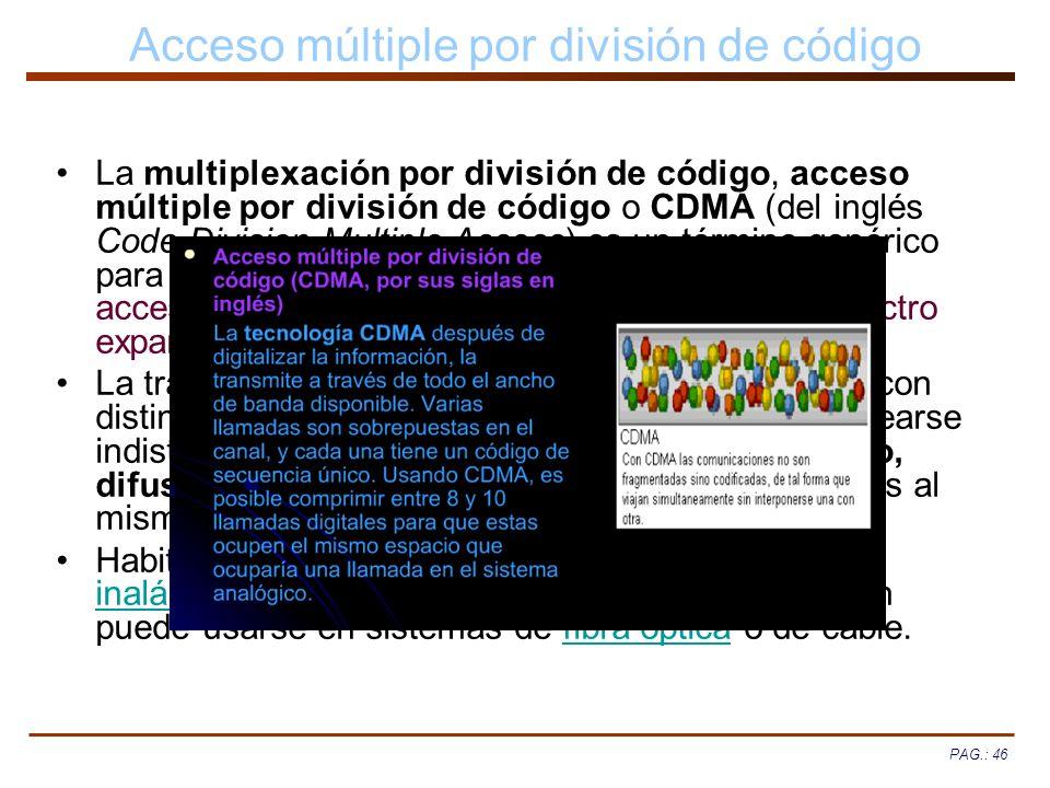 Acceso múltiple por división de código