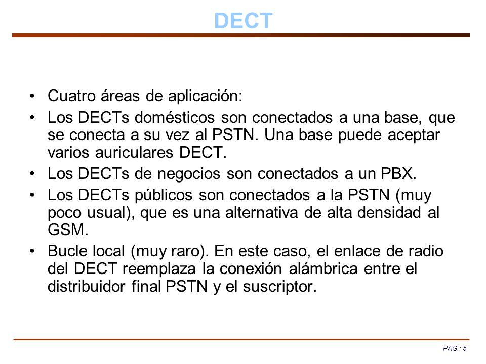 DECT Cuatro áreas de aplicación: