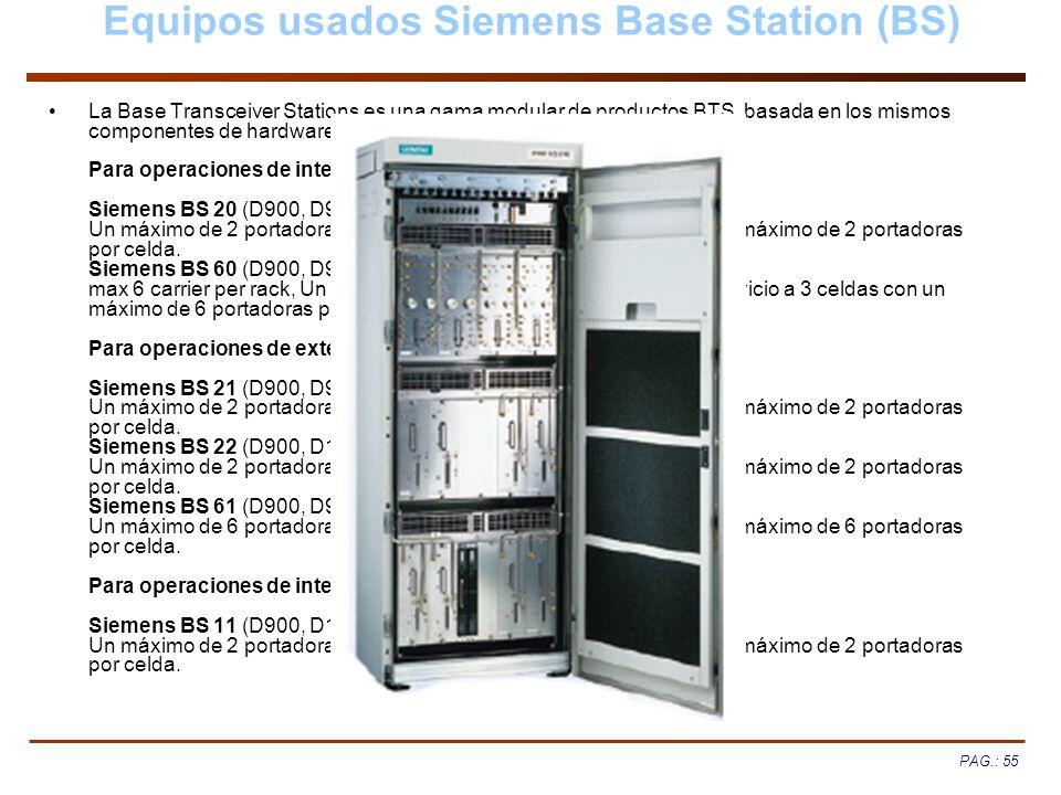 Equipos usados Siemens Base Station (BS)