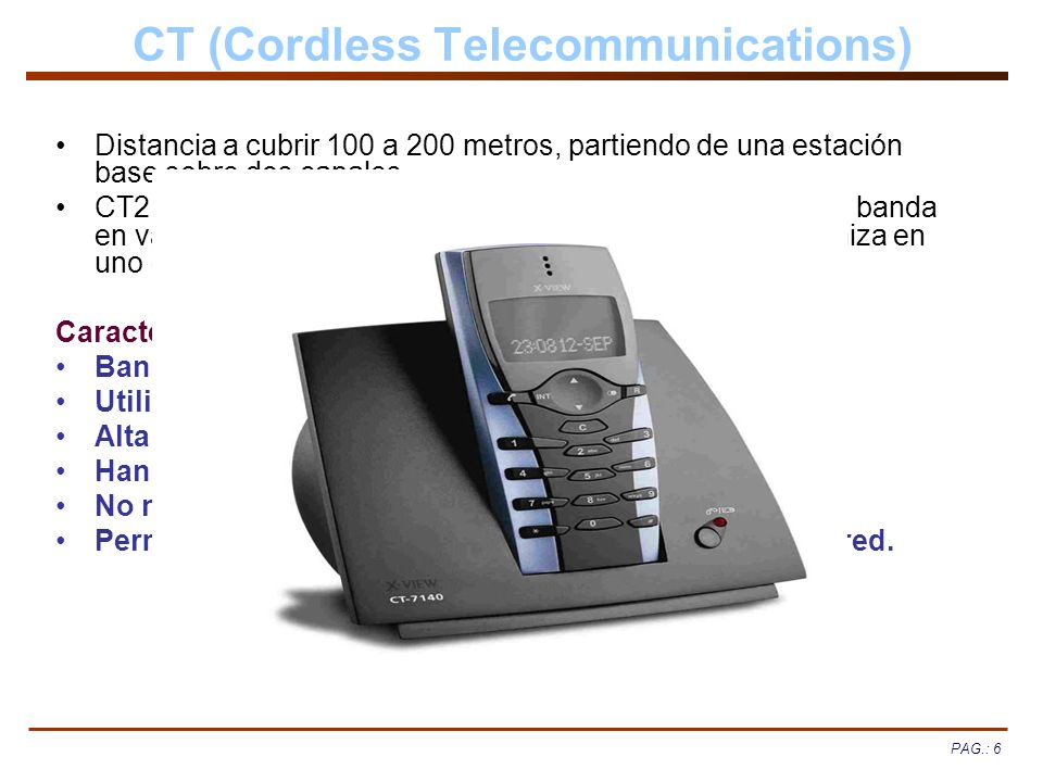 CT (Cordless Telecommunications)