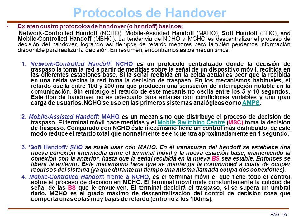 Protocolos de Handover