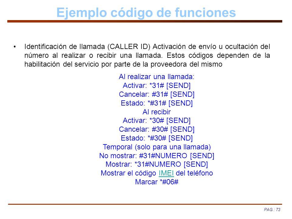 Ejemplo código de funciones