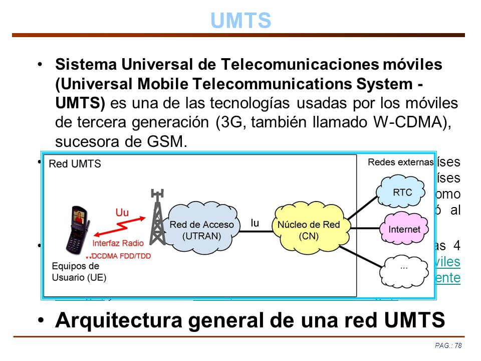 Arquitectura general de una red UMTS