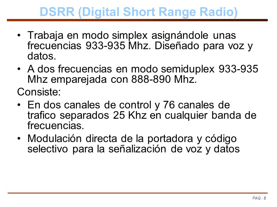 DSRR (Digital Short Range Radio)