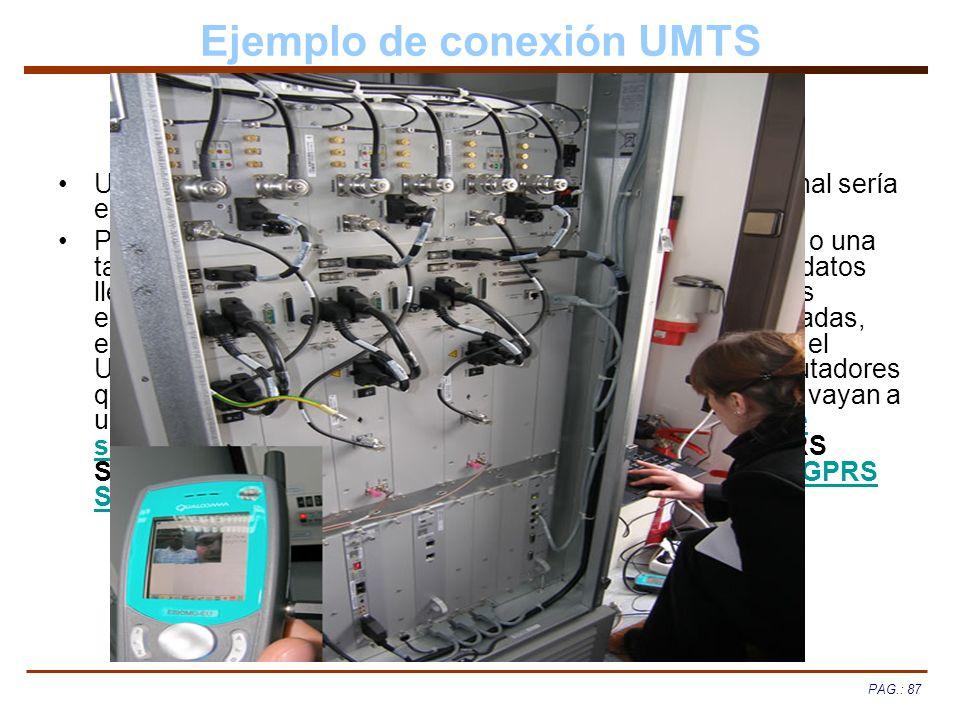 Ejemplo de conexión UMTS