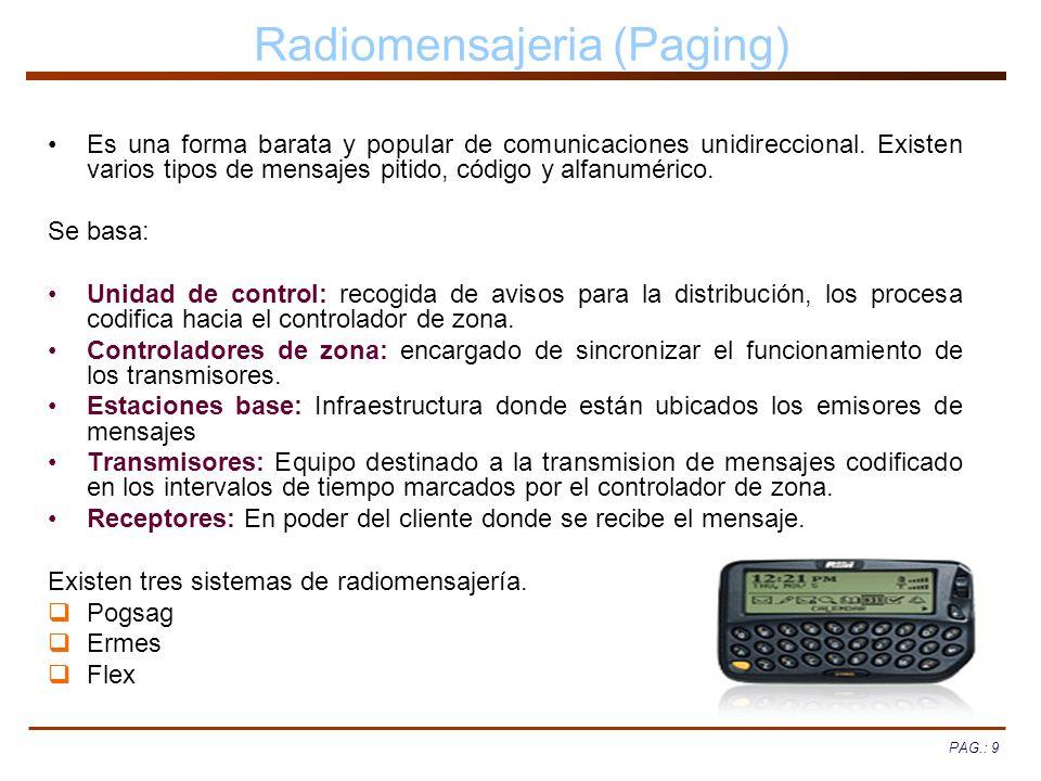 Radiomensajeria (Paging)