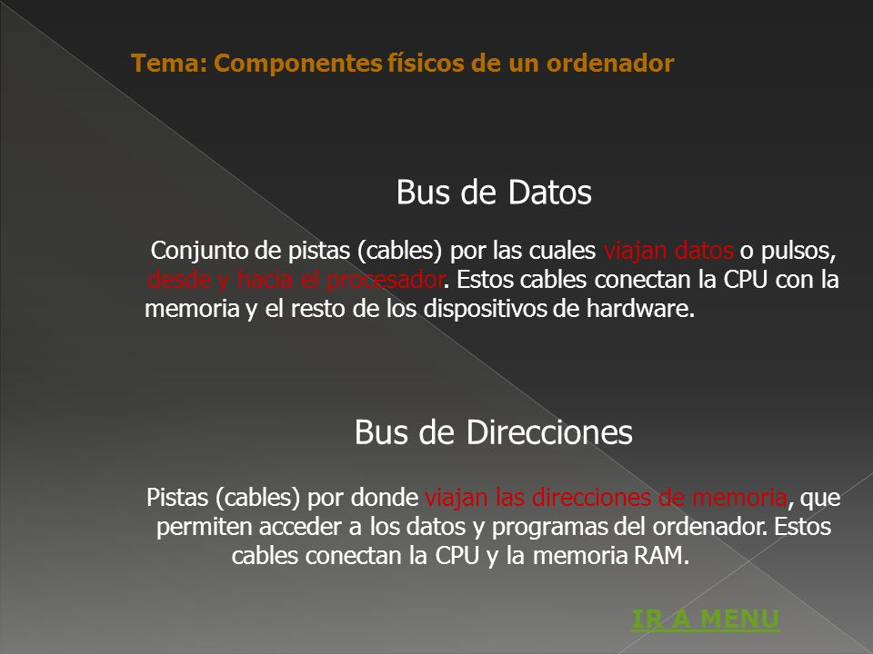 Bus de Datos Bus de Direcciones