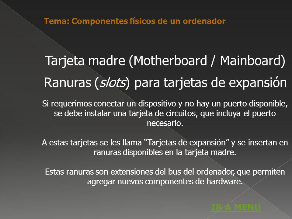 Tarjeta madre (Motherboard / Mainboard)