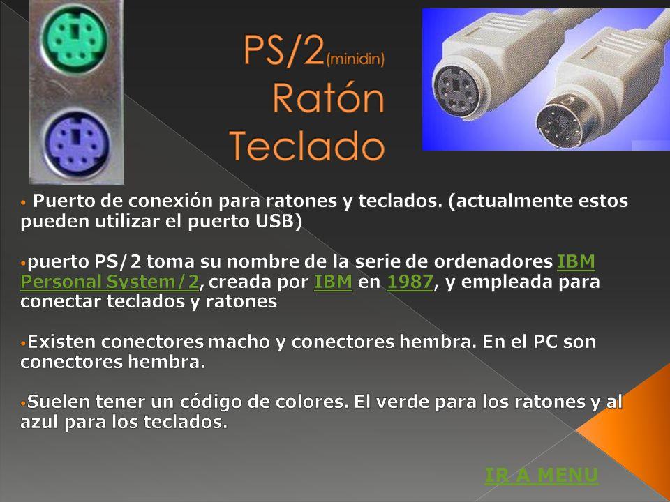 PS/2(minidin) Ratón Teclado