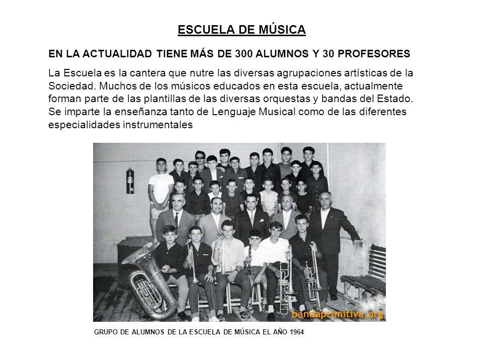 ESCUELA DE MÚSICA EN LA ACTUALIDAD TIENE MÁS DE 300 ALUMNOS Y 30 PROFESORES.