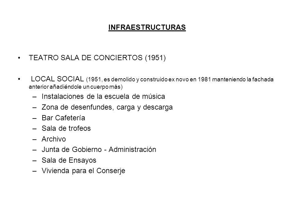INFRAESTRUCTURAS TEATRO SALA DE CONCIERTOS (1951)