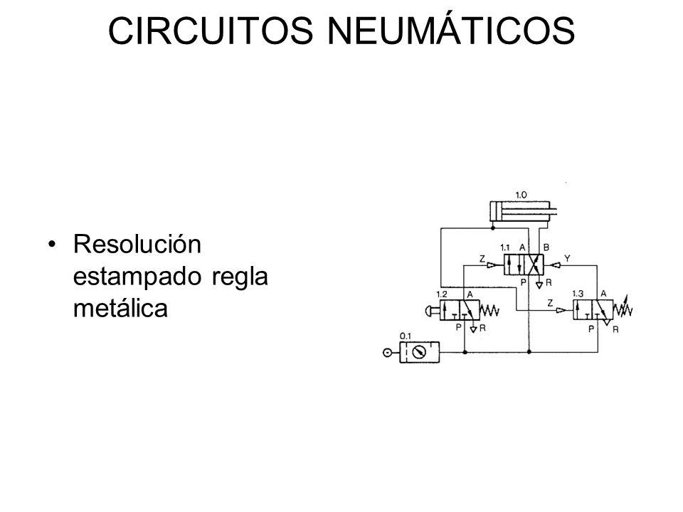 CIRCUITOS NEUMÁTICOS Resolución estampado regla metálica